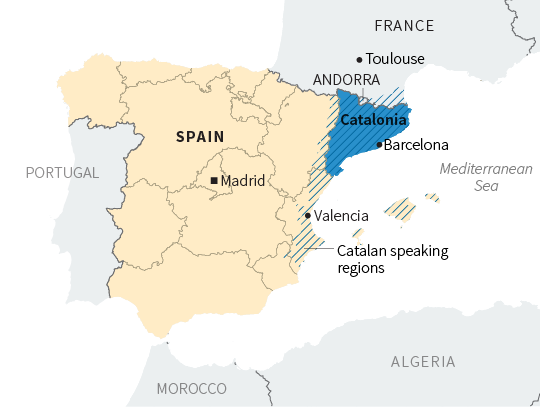 Catalan Map Of Spain.Catalan Independence