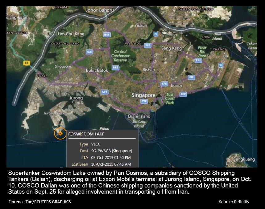 COSCO unit's tanker delivers oil to Exxon in Singapore - Reuters